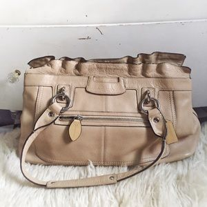Coach Penelope Tan Leather Shoulder Bag